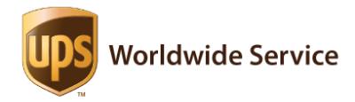 Das Logo von UPS Worldwide Service